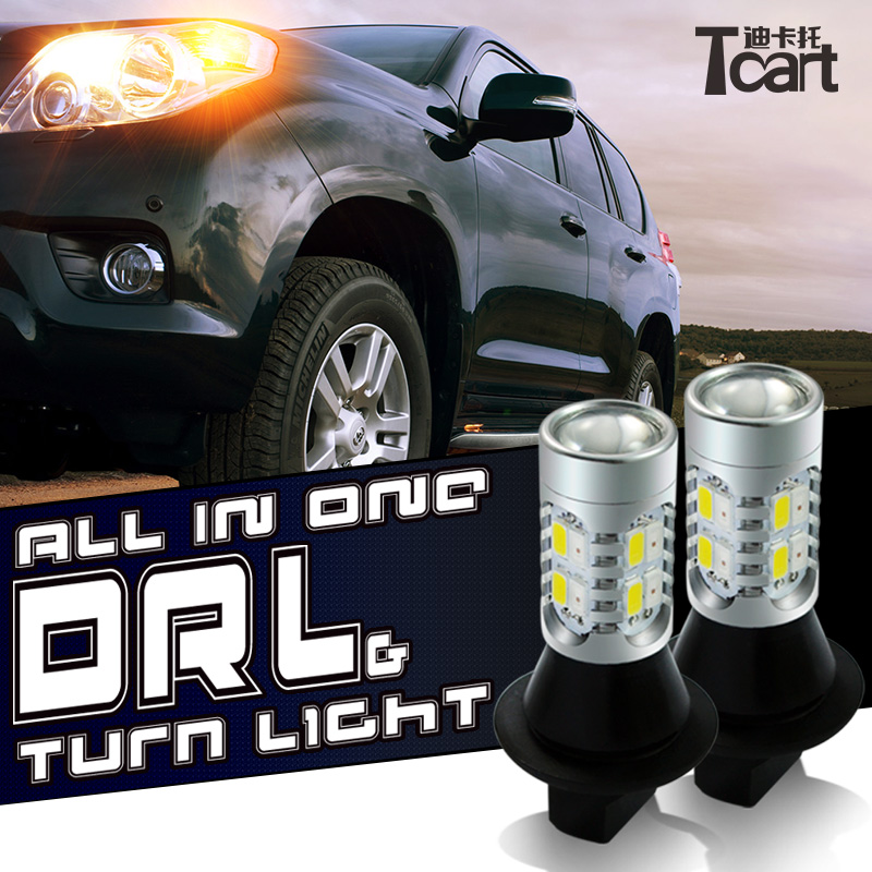 Tcart 2x Auto Led Lights DRL Daytime Running Light Turn Signals font b Lamps b font