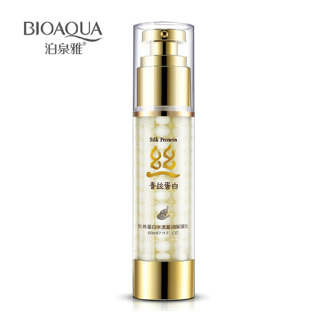 BIOAQUA proteína De Seda creme hidratante creme hidratante de cuidados da pele contração dos poros rompeu clarear a cor da pele