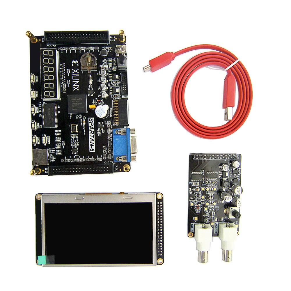 Placa FPGA placa de desenvolvimento FPGA Xilinx spartan6 Xilinx spartan XC6SLX9 com 256Mb SDRAM EEPROM FLASH SD cartão Da Câmera VGA