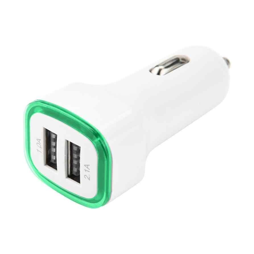 LANDFOX 2019 LED شاحن الهاتف المحمول المزدوج USB شاحن سيارة 2 مهايئ منفذ السجائر مقبس ولاعة للهواتف الذكية دروبشيبينغ