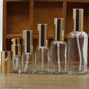 Image 1 - 2/10 Stuks 5/10/15/20/30/50/100 Ml Lege Helder/Amber Glas Essentiële Olie Parfumflesje Met Spuit/Lotion Pomp Glazen Spuitfles