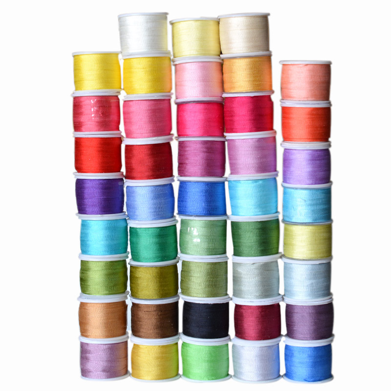 Warna Hangat, 7 mm 1/4 inci Lebar 100% Pure Ribbon Sutera Mulberry untuk Handicraft Embroidery Double Faced Thin Taffeta Silk Trim