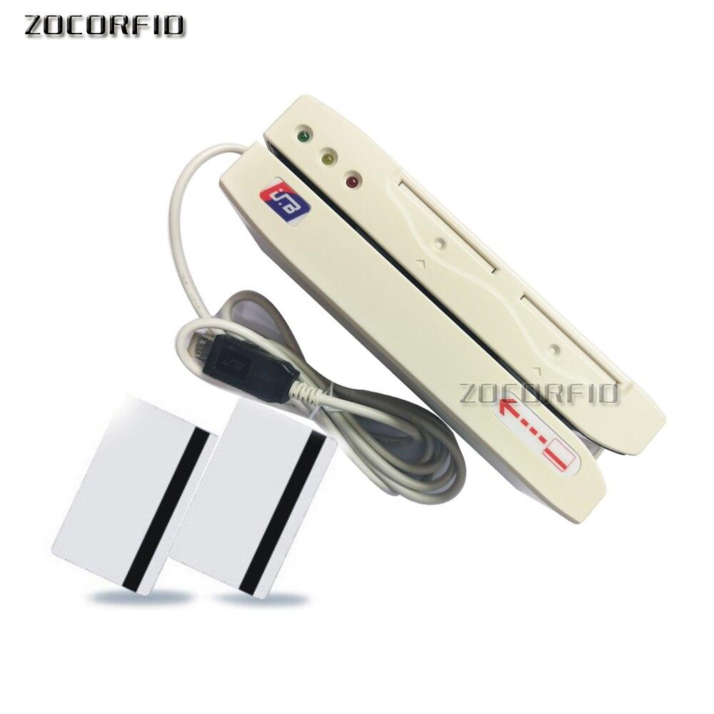 Lecteur de carte magnétique hi-co 2750oE encodeur de carte magnétique Interface USB à balayage