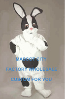 Checkered Rabbit Mascot Costume Easter Holiday Checkered Bunny Rabbit Mascotte Mascota Outfit Suit Fit Kit Fancy Dress SW1113