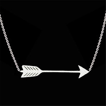 GORGEOUS TALE 2017 New Hot Sell Chocker necklace BFF Jewelry Gold Boho Chain Stainless Steel One Direction Arrow Necklace women