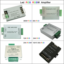 цена на 12A 24A 30A Led RGB RGBW Amplifier 3CH 4CH Led Controller for 5050 3528 Led Strip Light Tape Power Repeater Console DC5V 12V 24V