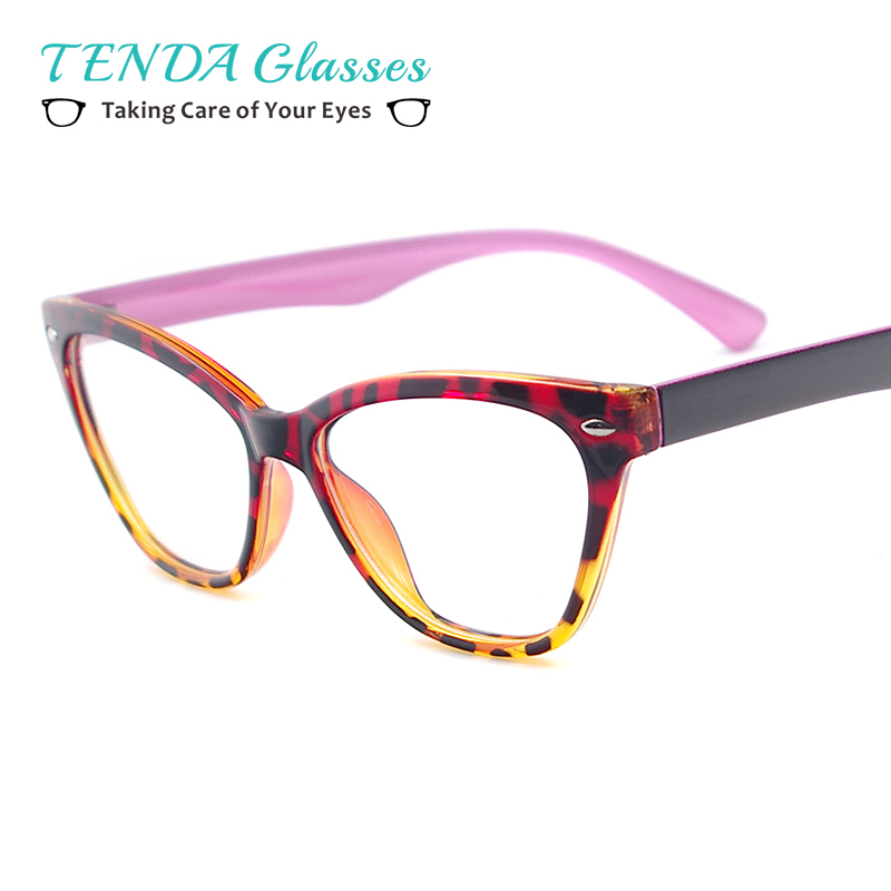 351743d30e62 Fashion Women Cat Eye Glasses Lightweight Plastic Eyewear Frame For Prescription  Lenses