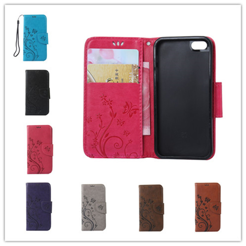 Luxury Embossed pattern Pattern Phone Case For iphone 5se ipone 5s Leather Wallet Flip Cases Card Holder Cover with Stand Cover