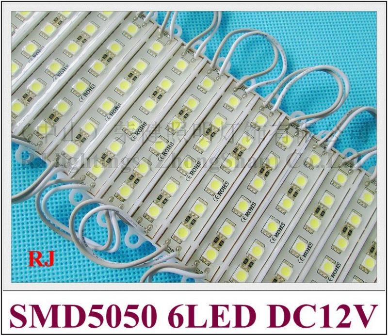 Водонепроницаемый модуль LED подсветка назад свет лампы для знак письмо SMD 5050 6 LED 0.24 Вт/LED 1.44 Вт DC12V IP65 78 мм * 15 мм ce