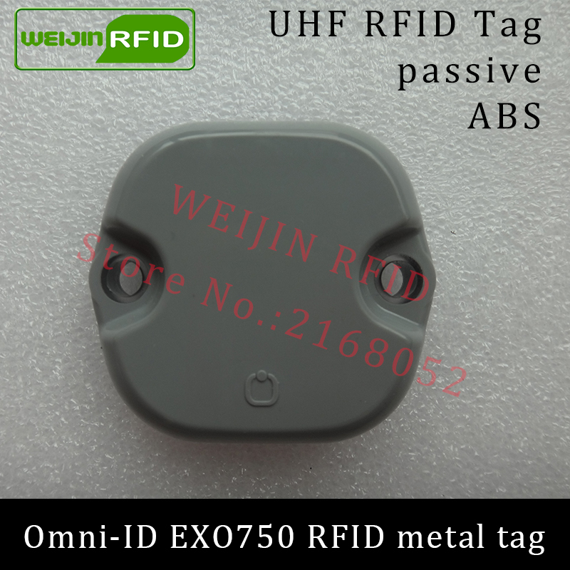 UHF RFID metal tag omni-ID EXO 750 EXO750 915mhz 868mhz Impinj Monza4QT EPCC1G2 6C durable ABS smart card passive RFID tags uhf rfid anti metal tag 915mhz 868mhz higgs3 epcc1g2 6c 13 5 21 12 8mm durable abs stocking shelves smart card passive rfid tags