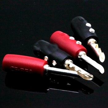 Hifi 4ps AQ посеребренные BFA банан разъемы вилки 5 мм для Hifi аудио усилитель CD плеер Акустический кабель