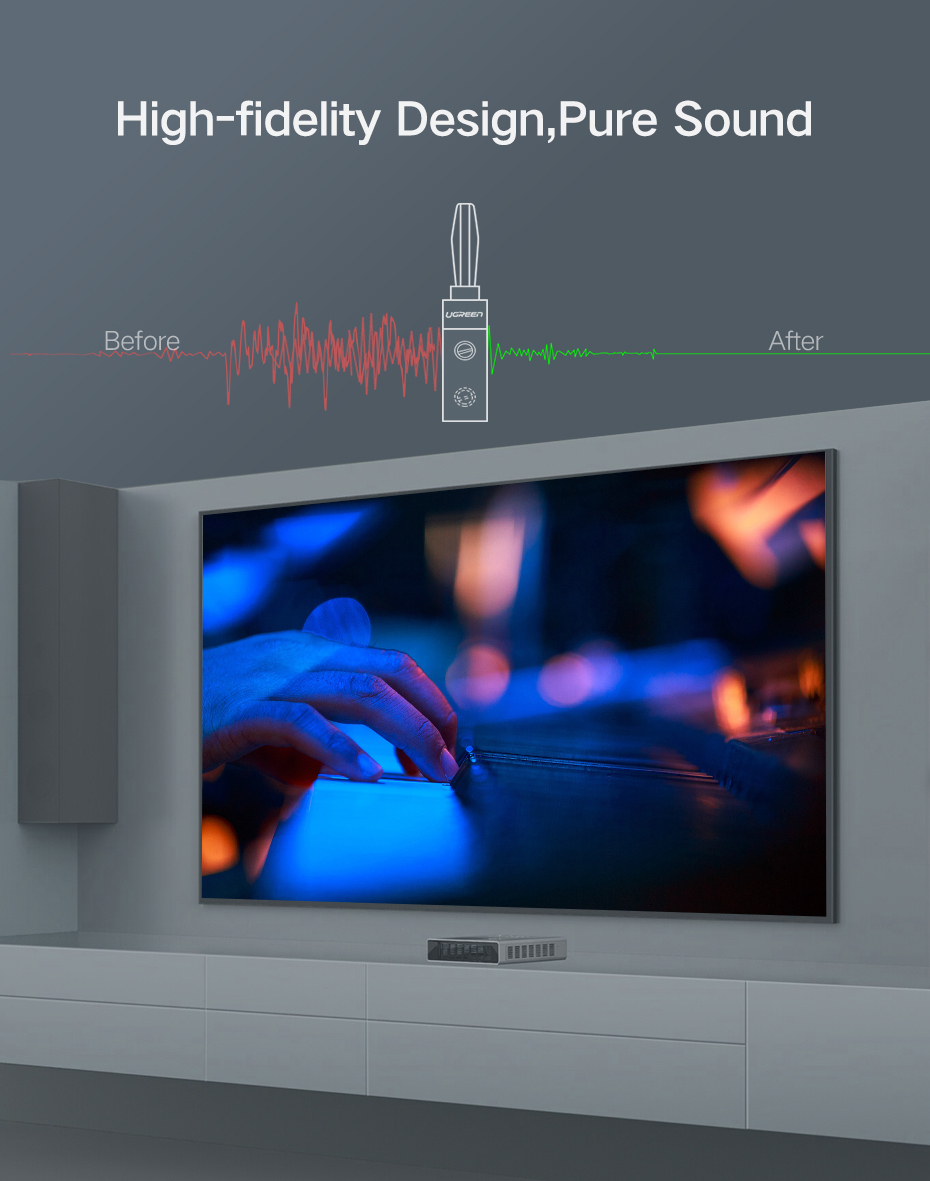 alto-falante, amplificador de fios, cabo de vídeo e de áudio
