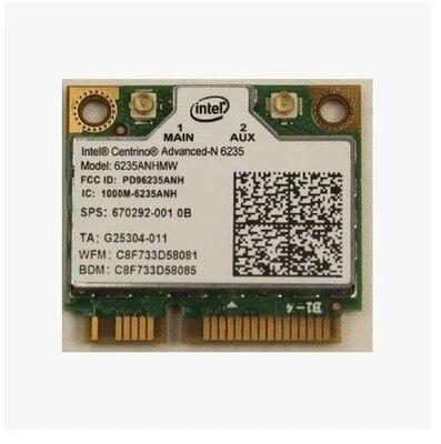 Para Intel Centrino Advanced N-6235 6235 6235ANHMW Wlan WIFI Bluetooth 4.0 Metade MINI PCI-E Card 802.11 a/b/g/n 2.4G/5 GHZ 670292-001