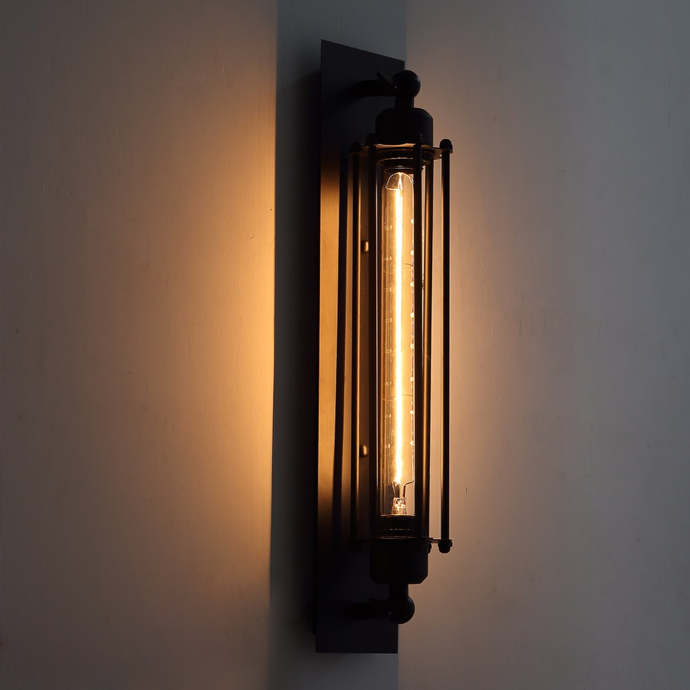 loft wall light vintage wall lamp sconce wall lights. Black Bedroom Furniture Sets. Home Design Ideas
