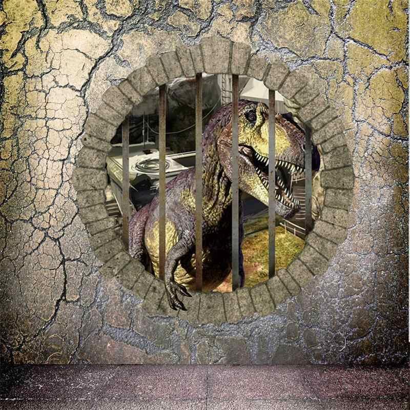 3D эффект Наклейка на стену «динозавр» для детских комнат мультяшное украшение для дома фильм Adesivo де Parede ПВХ настенные наклейки детские подарки обои