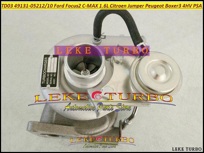 TD03 49131-05210 49S31-05210  49S31 05210 Turbo For Ford C-MAX Fiesta HHJA 1.6L For Citroen Jumper Peugeot Boxer 3 4HV PSA 2.2L диагностические кабели и разъемы для авто и мото psa bsi for car 2015 s psa bsi v1 2 peugeot citroen dhl
