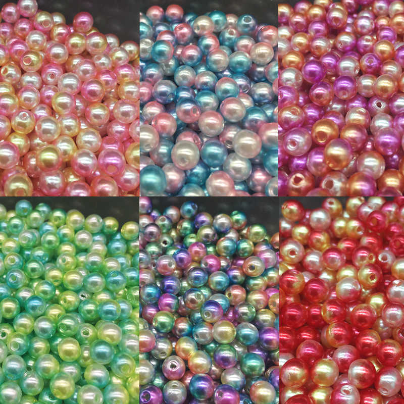 DIY 100pcs/Lot 6mm New Cheap Round Shape Imitation Pearls Beads Handmade for Bracelet Jewelry Accessories Making Wholesale