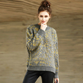 YNZZU Brand Woman Sweater Pullover 2016 Autumn Winter Fashion O-Neck Double Crocheted Pullovers Pull Femme Sweater Mujer YT140