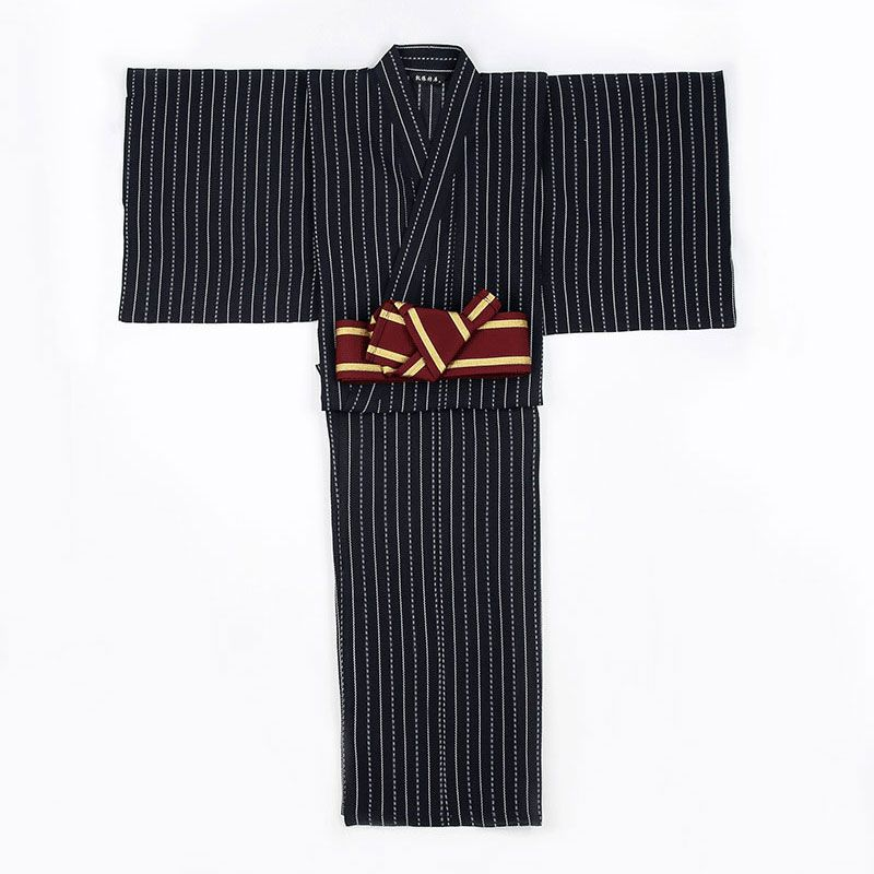 Underwear & Sleepwears Men 100% Cotton Yukata Kimono Suit Men Japanese Traditional Pajamas Set Summer Japanese Style Bathrobe With Shorts 050401 Fast Color