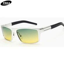 VEGA Aluminum Frame Polaroid Lenses Polarized Day Night Driving Glasses Best Night Vision Goggles Men Women 8554b