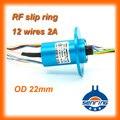 1 Canais HD RF cabo coaxial com 12 circuitos 2A cápsula anel coletor OD 22mm