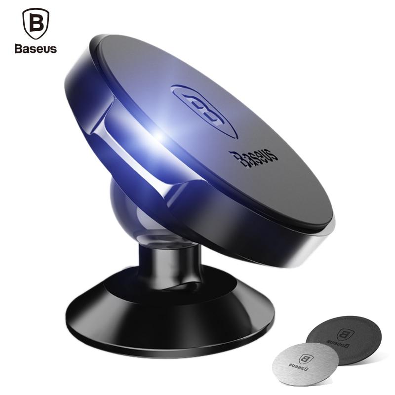 Baseus Car Holder For iPhone X 8 7 Samsung 360 Degree Magnetic Mobile Phone Holder Air Vent Mount Magnet Car Phone Holder Stand