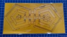 Diy tools nähen teile lineal patchwork regeln quilten regeln doppel hexagon herrscher twin herrscher