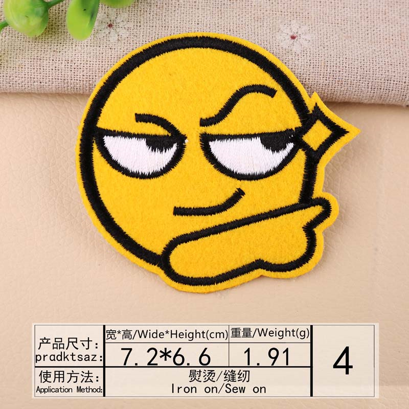 """2.25/"""" HAVE A NICE DAY HAPPY FACE Embroidered Iron On//Sew On Patch USA SELLER"""