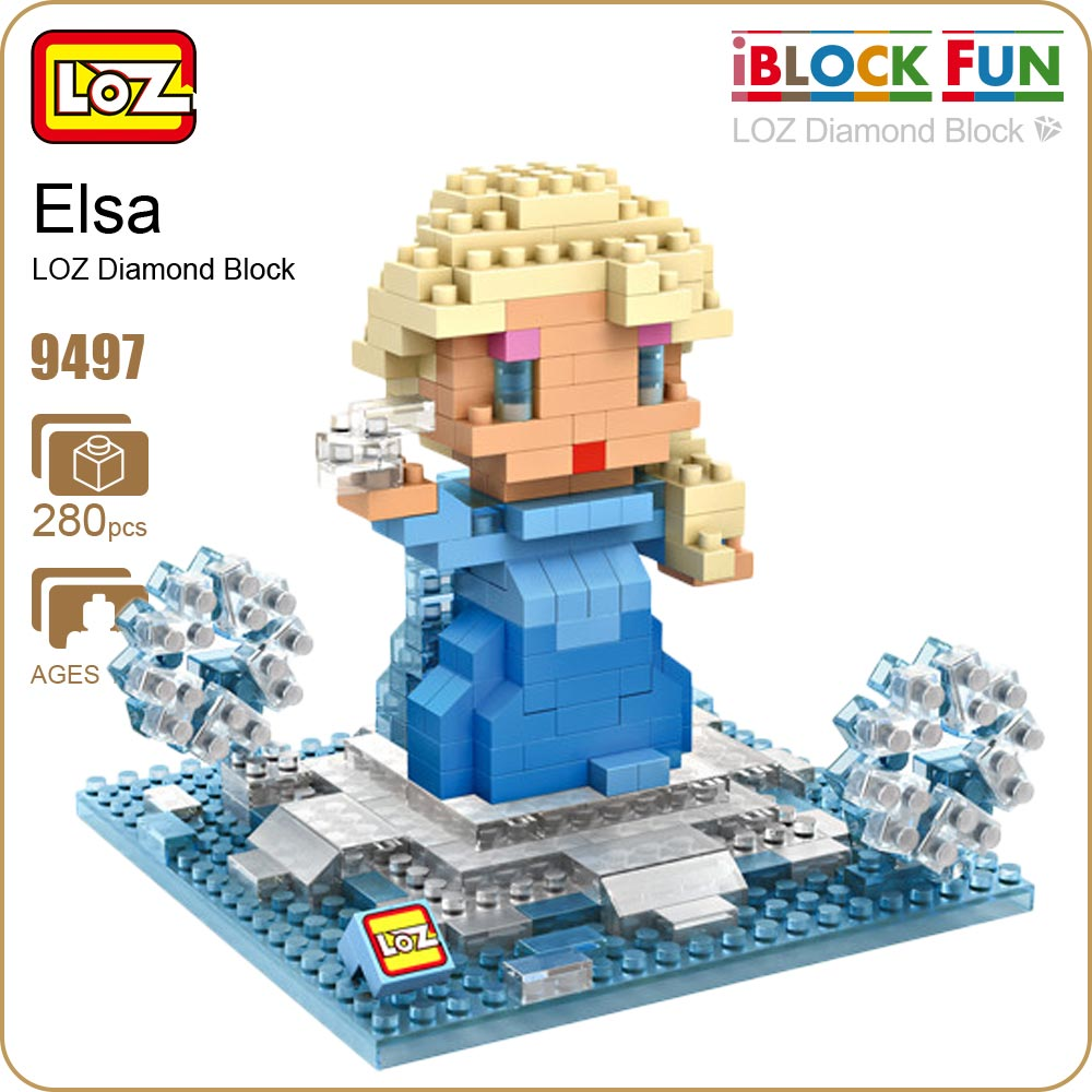 LOZ Diamond Blocks Building Toys Doll Figurine POP Action Figure Anime Girl Cute Chibi Mirco Brick DIY Kids Assembly Toys 9497