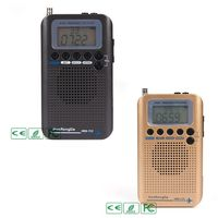 HRD 737 Digital LCD Display Full Band Radio Portable FM/AM/SW/CB/Air/VHF World Band Stereo Receiver Radio with Alarm Clock