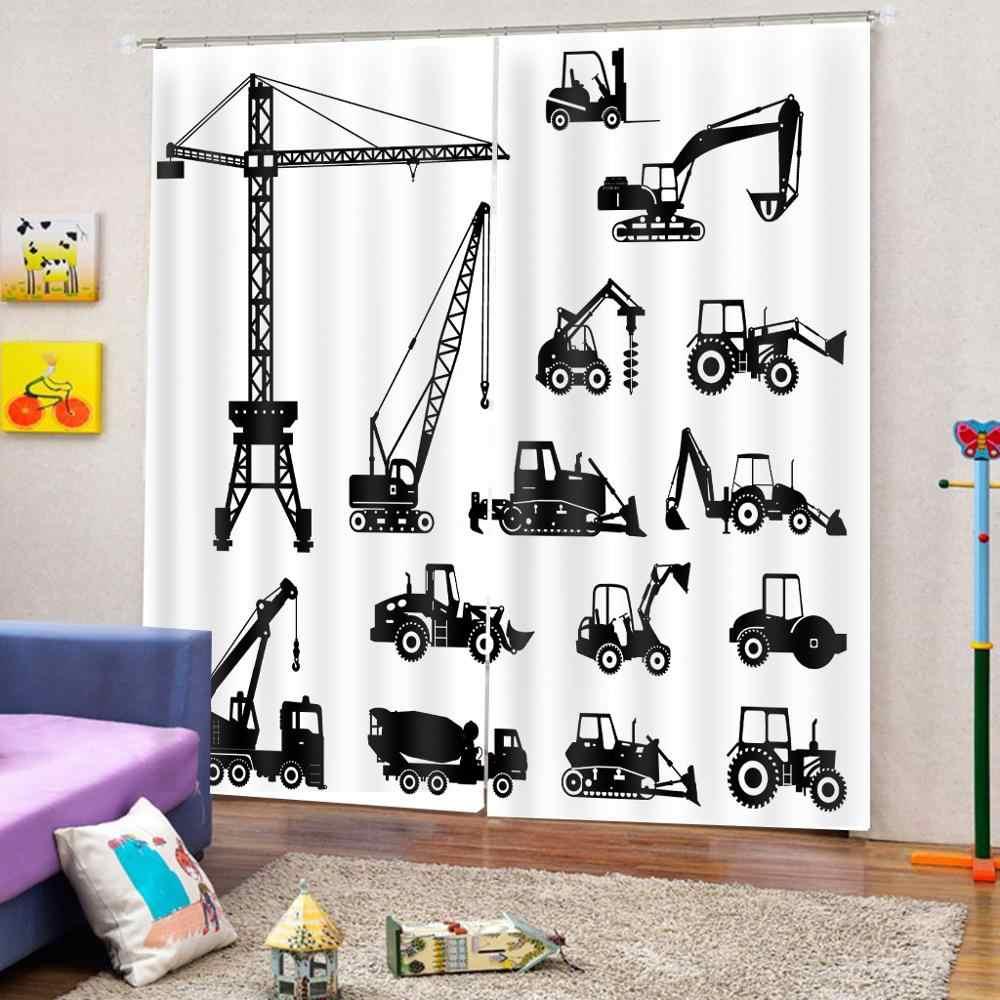 描く子供のためのルームのカーテンオフィス寝室 3D 窓カーテン贅沢なリビングルーム飾るコルティーナ