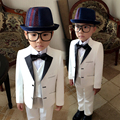 Kids/Children White Formal Blazers Suit Wedding/Mariage/Perform/Birthday Dress /Tuxedo/Costume/Blazer For Boys/Garcon/Jongens