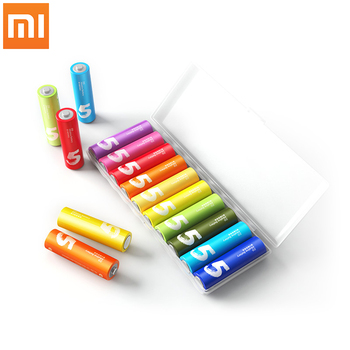 10PCS/Lot Original XIAOMI ZMI ZI5 AA lkaline Battery Rainbow Disposable Batteries Kit for Camera Mouse Keyboard Controller Toys
