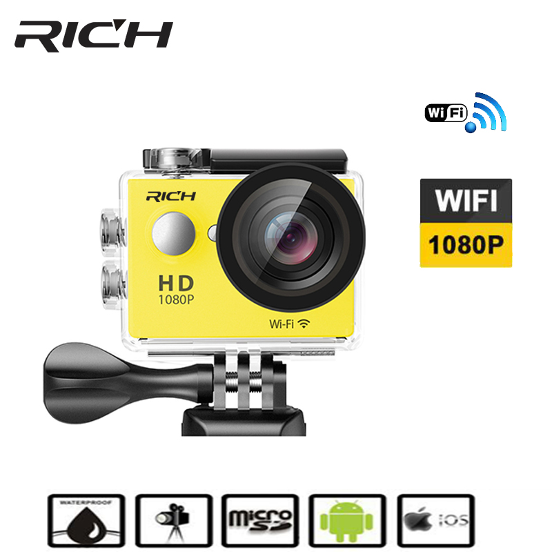 New Arrival!Original RICH W9S Ultra HD 4K Action Camera 30m waterproof 2.0' Screen 1080p sport Camera go extreme pro cam