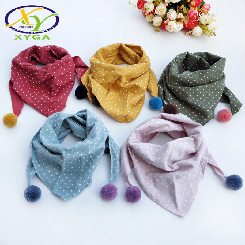 1PC Childrens Cotton Triangle Scarf Spring Boys and Girls Cute Small Neckerchief Child Baby Kids Soft Viscose Wraps