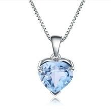 Heart Pendant Necklace Topaz Fine-Jewelry Gemstone 925-Sterling-Silver Natural Women