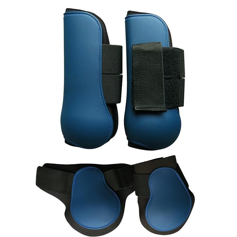 Wear Resistant Horse Leg Boots Adjustable Front Hind Leg Tendon Protectors Soft PU Equestrian Equipment Horse Riding Accessories