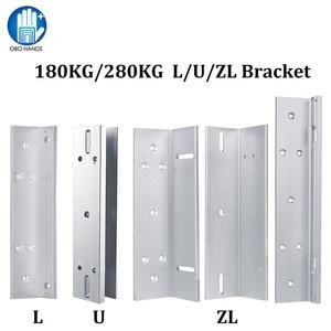Image 1 - 180kg/280kg Magnetic lock U /L / LZ shape bracket 350lbs/600lbs frameless glass door for Access Control Security lock System