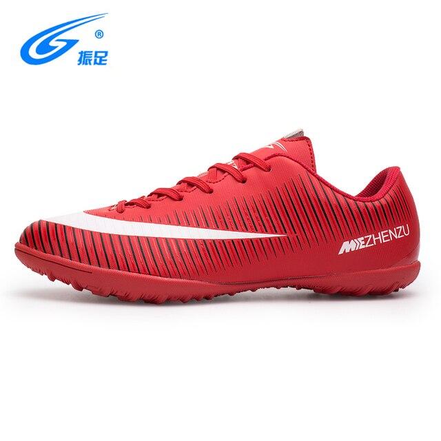 Zhenzu 2017 Nova Relva Futsal Indoor Futebol Sapatos para homens Baratos  Botas de Futebol TF Botas bd31c51004e87