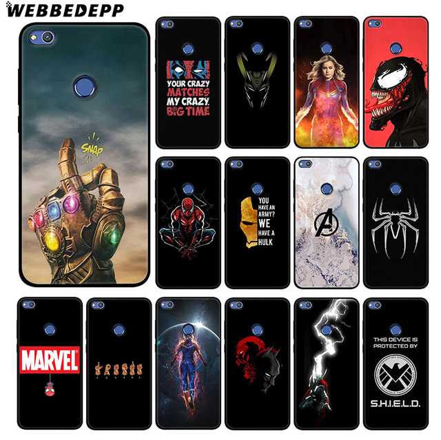 WEBBEDEPP Marvel Thanos Heroes Soft Silicone Case for Huawei Honor Mate 20 10 8X 8C 8 6A 7A 7X 7C Lite Pro TPU