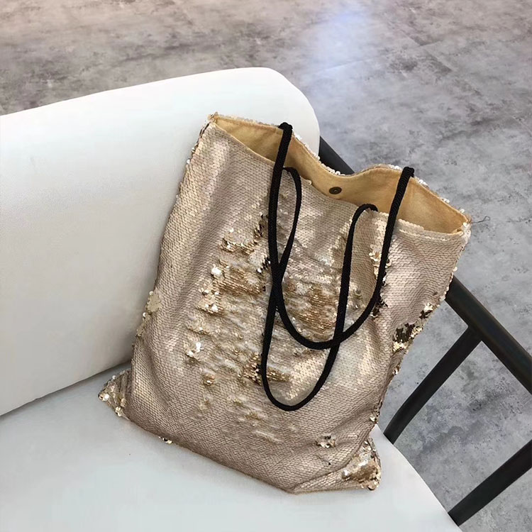 Fashion Sequins Shopping Bag Glitter Beads Tote Bag Women Mermaid Sequins Shoulder Bag High Quality Handbags Drop Shipping