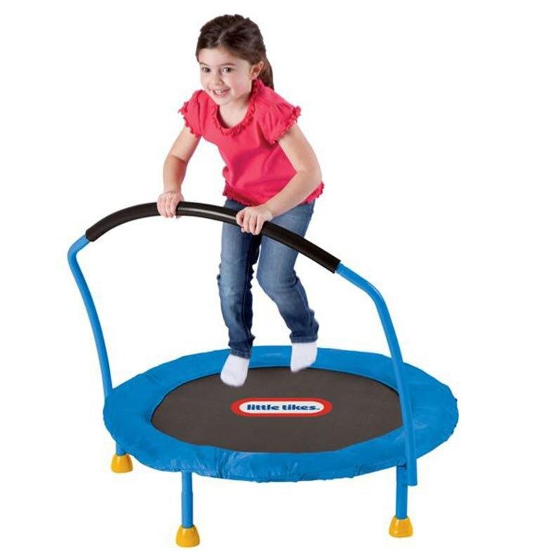 Trampoline extérieur d'enfants avec la tige d'équilibre de sécurité en plastique et la combinaison en métal de qualité alimentaire ABS matrial taille: 91.4*91.4*85 cm