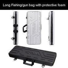 Высококачественный чехол для инструментов, длинный Чехол для багажа, сумки для рыбалки, чехол для ружья, пластиковый ящик для инструментов, защитный чехол для костюма с поролоновой подкладкой
