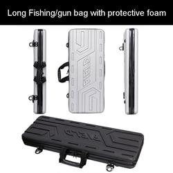 Caja de herramientas de alta calidad caja larga de equipaje al aire libre bolsa de pesca caja de pistola caja de herramientas de plástico maleta con espuma forro