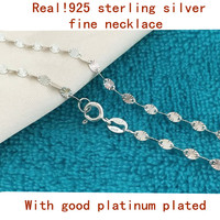 2015 New Arrival Unique Figaro Chains Necklaces 925 Sterling Silver 16 18 Inch Wedding Party Gift