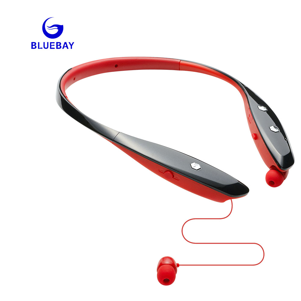 BLUEBAY Bluetooth earphone Wireless Headset Microphone AptX Sport headphone for lg iPhone  Xiaomi Android Phone цена 2016