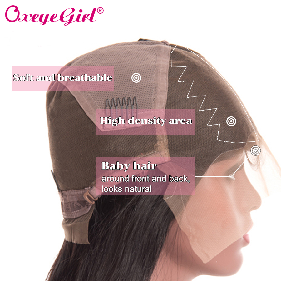 Glueless Full Lace Human Hair Parykker Med Baby Hair Brasilian - Menneskehår (sort) - Foto 6