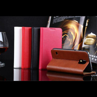 Coque Leather Cases For Samsung Galaxy S5 I9600 Genuine Leather Cover Mobile Phone Accessories Flip Card