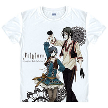 Black Butler Ciel Sebastion Anime Casual Fashion Men's T-shirt