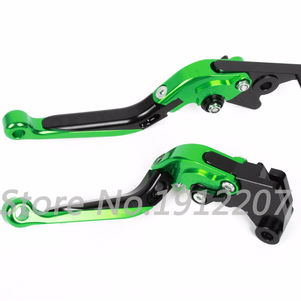 ФОТО For Kawasaki ZG1000 CONCOURS 1992-2006 Foldable Extendable Brake Clutch Levers Aluminum CNC High-quality Folding&Extending 2005